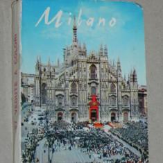 Pliant 24 ilustrate COLOR MILANO, ITALIA ANII 1960 / 1970, Necirculata, Printata