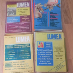 Revista LUMEA - DIVERSE NUMERE - 1976, 1979, 1980, 1981, 1989, 1990