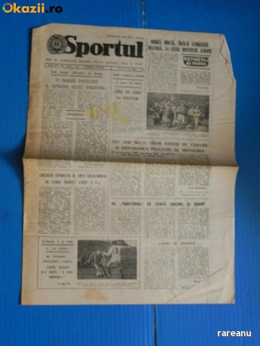 ZIARUL SPORTUL 8 IULIE 1988 - divizionarele A la ora bilantului - Universitatea Craiova (01042 foto mare