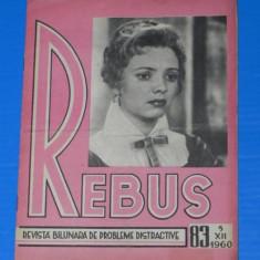 REVISTA REBUS 1960 NR 83 - NECOMPLETATA (00484