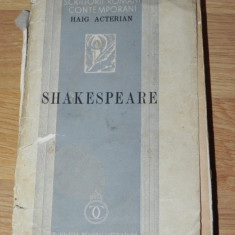 HAIG ACTERIAN - SHAKESPEARE 1938