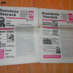 Lot REVISTA ROMANIA LITERARA - 1999 NR 29; 2001 - NR 11; 2002 - NR 43 - Revista culturale