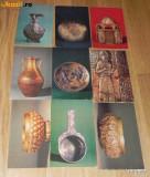 Lot 9 CARTI POSTALE ARTA OBIECTE DE METAL MUZEE LENINGRAD URSS. 1953, 1957, Necirculata, Printata, Rusia