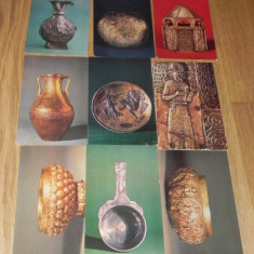 Lot 9 CARTI POSTALE ARTA OBIECTE DE METAL MUZEE LENINGRAD URSS. 1953, 1957 - Carte postala tematica, Necirculata, Printata, Rusia