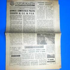 ZIARUL INFORMATIA BUCURESTIULUI 9 FEBRUARIE 1982 - SEDINTA COMITETULUI EXECUTIV AL CC AL PCR (01073