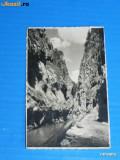 CARTE POSTALA FOTOGRAFIE ILUSTRATA VECHE - LACUL GHILCOS CHEILE BICAZULUI FOTO DE TILLY ARTZ DIN GHEORGHENI CIUC . judetul harghita (v009