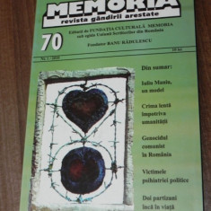 MEMORIA - REVISTA GANDIRII ARESTATE NR 70, 1 / 2010 - Biografie