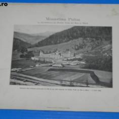 Plansa MONASTIREA PUTNA - SUVENIR DELA 2 IULIE 1904 - 400 de ani de la moartea su Stefan cel Bun si Mare(01017 - Carte Postala Bucovina 1904-1918