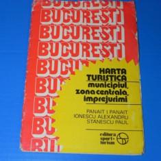 BUCURESTI - ZONA CENTRALA SI IMPREJURIMI HARTA TURISTICA - PANAIT, IONESCUT 1984