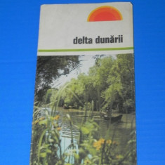 PLIANT VECHI CU HARTA DELTA DUNARII (00661