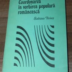 SABINA TEISU - COORDONAREA IN VORBIREA POPULARA ROMANEASCA