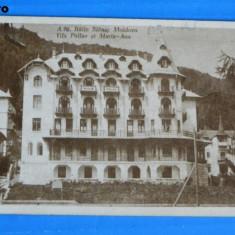 Carte postala veche BAILE SLANIC MOLDOVA VILA PALLAS SI MARIA-ANA. editura albania. necirculata. judetul bacau (v029 - Carte Postala Moldova dupa 1918
