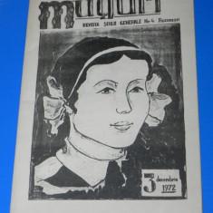 REVISTA MUGURI - REVISTA SCOLARA - SCOALA GENERALA NR 4 BUCURESTI NR 3/1972