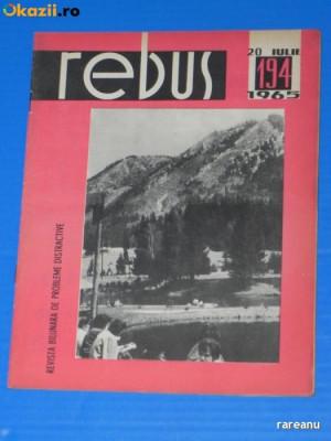 REVISTA REBUS 1965 NR 194 - NECOMPLETATA (00568 foto