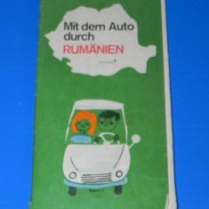 ROMANIA HARTA AUTO SI TURISTICA. TEXT IN LIMBA GERMANA