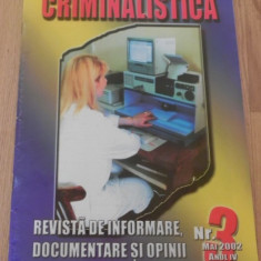 Revista CRIMINALISTICA NR 3/2002 - Carte Legislatie