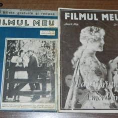 2 REVISTE FILMUL MEU NR 14 - 1928, NR 28 - 1929 - Carte Cinematografie