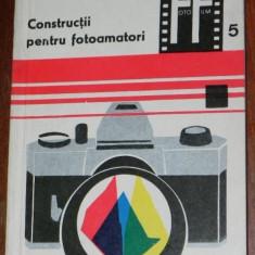 LEONIDA TANASESCU - CONSTRUCTII PENTRU FOTOAMATORI COLECTIA FOTO FILM NR 5 (9657 - Carte Fotografie