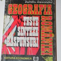 FLORINA BRAN, AL BOTESCU - GEOGRAFIA ROMANIEI. TESTE, SINTEZE, RASPUNSURI - Carte Geografie