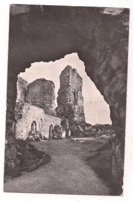 % carte postala (ilustrata)-TARGU NEAMT-Ruinele cetatii Neamtului foto