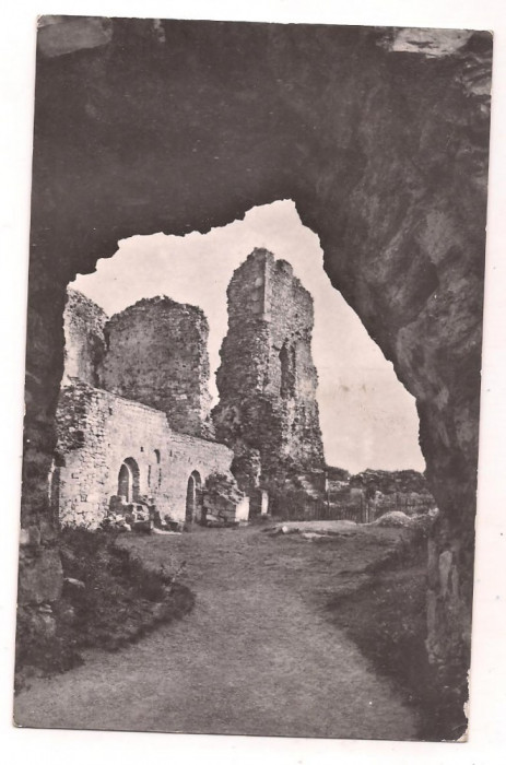 % carte postala (ilustrata)-TARGU NEAMT-Ruinele cetatii Neamtului foto mare