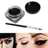 Eyeliner / Eye Liner Rezistent la Apa , Gel Negru  + Pensule