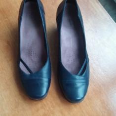 Pantofi dama, office, marimea 39, marca Clarks. - Pantof dama Clarks, Culoare: Bleumarin, Piele naturala