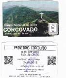 Pentru colectionari, bilet intrare Corcovado, Statuia lui Christ, Rio, Brazil