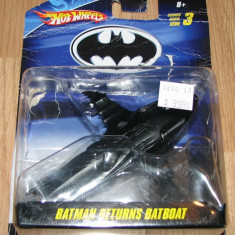 = Hotwheels Batman Batboat macheta die-cast metal = - Macheta auto
