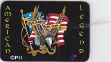 Magnet frigider, American legend, Live free or die, cu lista adrese