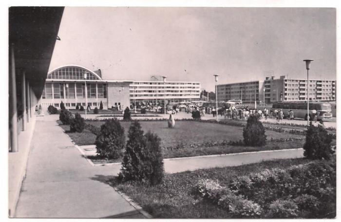 % carte postala (ilustrata)-CONSTANTA-Vedere din Piata Garii foto mare