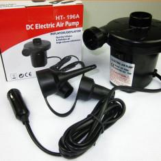 Pompa pentru umflat si dezumflat saltele, piscine, colace cu cablu pt 12/220 V