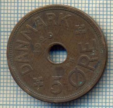 6373 MONEDA - DANEMARCA (DANMARK) - 5 ORE - ANUL 1929 -starea care se vede foto mare