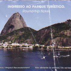 Pentru colectionari, bilet intrare Muntele de zahar, Sugar Loaf, Rio, Brazil