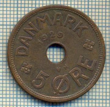 6365 MONEDA - DANEMARCA (DANMARK) - 5 ORE - ANUL 1929 -starea care se vede foto