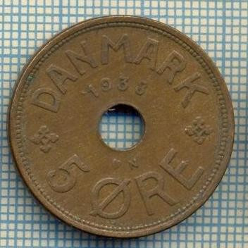 6407 MONEDA - DANEMARCA (DANMARK) - 5 ORE - ANUL 1938 -starea care se vede foto mare