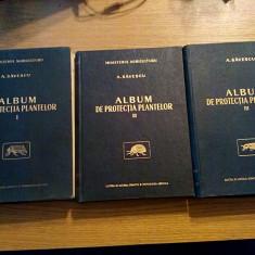 ALBUM DE PROTECTIA PLANTELOR (3 vol.) - A. Savescu - Carti Agronomie