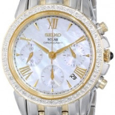 Seiko Women's SSC892 Diamond-Accented Two-Tone Stainless | 100% original, import SUA, 10 zile lucratoare af22508 - Ceas dama Seiko, Elegant, Quartz, Analog