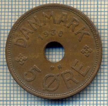 6416 MONEDA - DANEMARCA (DANMARK) - 5 ORE - ANUL 1938 -starea care se vede foto