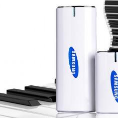POWER BANK/BATERIE EXTERNA SAMSUNG 20.000mah PUTERE, LANTERNA, 2 PORTURI USB.NOU.