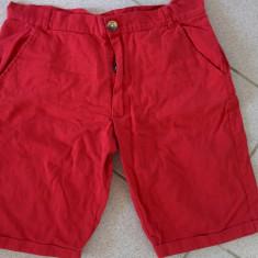 Pantaloni scurti de blugi, de dama, rosii, marimea M, model casual - Blugi dama, Marime: L, Culoare: Rosu