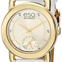 ESQ Movado Women's 07101448 Classica Diamond-Accented | 100% original, import SUA, 10 zile lucratoare af22508 - Ceas dama Movado, Elegant, Quartz, Analog