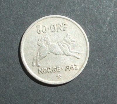 NORVEGIA 50 ORE 1962 foto