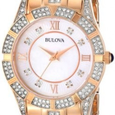 Bulova Women's 98L197 Analog Display Japanese | 100% original, import SUA, 10 zile lucratoare af22508 - Ceas dama Bulova, Casual, Quartz