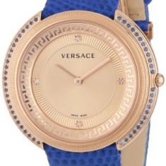 Versace Women's VA7080013 Thea Diamond and | 100% original, import SUA, 10 zile lucratoare af22508 - Ceas dama Versace, Elegant, Quartz, Otel, Piele, Analog
