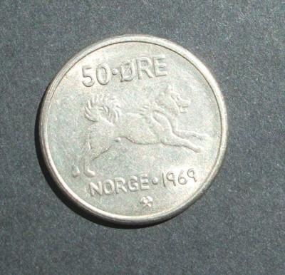NORVEGIA 50 ORE 1969 foto