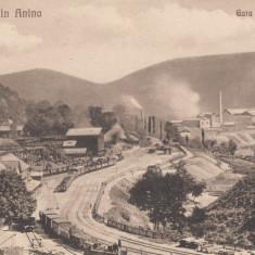 ANINA, GARA SI UZINELE - Carte Postala Banat 1904-1918, Necirculata, Printata