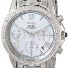 Seiko Women's SSC893 Stainless Steel Diamond-Accented | 100% original, import SUA, 10 zile lucratoare af22508 - Ceas dama Seiko, Analog