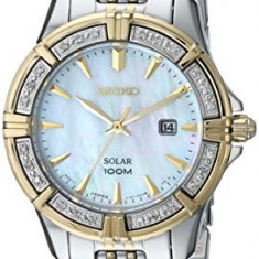 Seiko Women's SUT072 Diamond-Accented Two-Tone Stainless | 100% original, import SUA, 10 zile lucratoare af22508 - Ceas dama Seiko, Analog