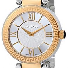 Versace Women's VNC050014 Leda Gold Ion-Plated | 100% original, import SUA, 10 zile lucratoare af12408 - Ceas dama Versace, Elegant, Quartz, Analog